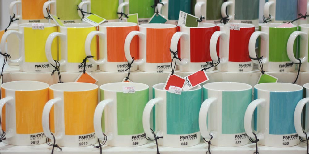 Pantone Colored Coffee Mugs